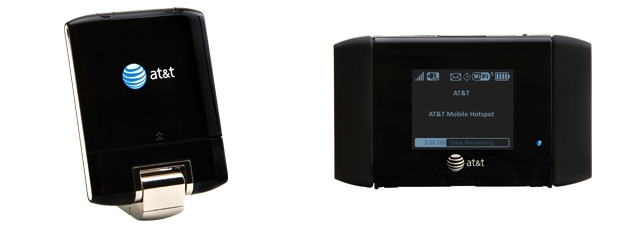 The USBConnect Momentum 4G, left, and the Mobile Hotspot Elevate 4G