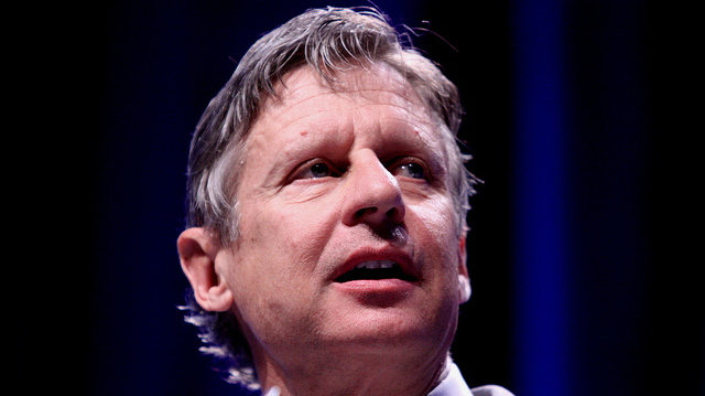 Hands off the Internet: presidential candidate Gary Johnson speaks