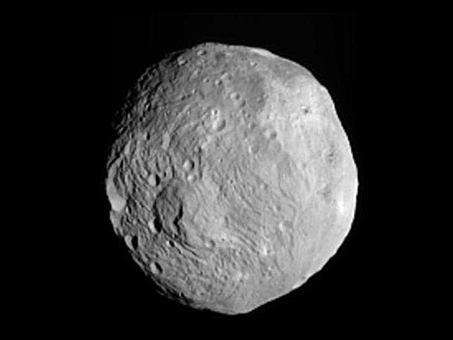 Dawn snapped this photo of Vesta from about 26,000 miles away on July 9, 2011.