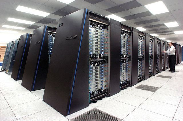 The Blue Gene / P supercomputer at Argonne
