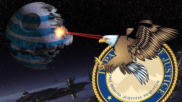 US fires proton torpedos at AT&T Death Star to blow up T-Mobile merger