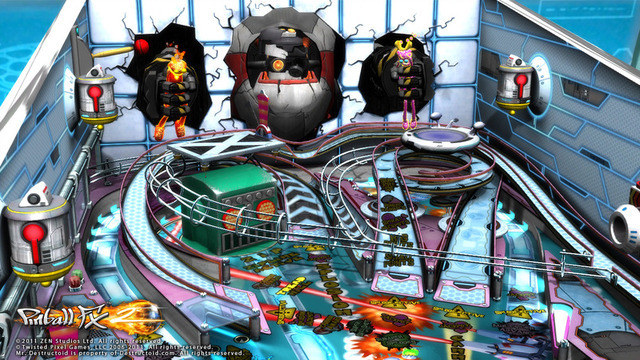 The art of pinball: designing the virtual Ms. Splosion Man table