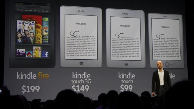 Amazon unveils $199 Android Kindle Fire tablet, $99 e-ink Kindle Touch