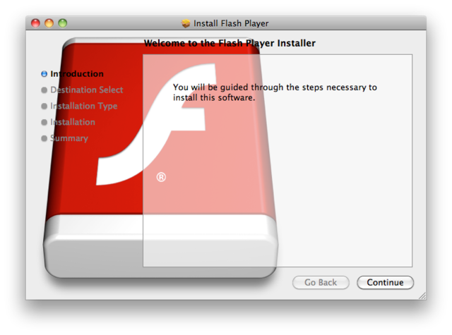 Mac trojan pretends to be Flash Player Installer to get in