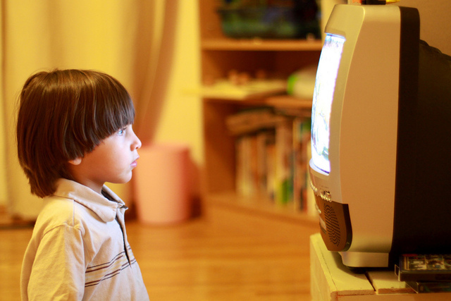 Kids are watching too much TV; if they're under two, any TV is too much