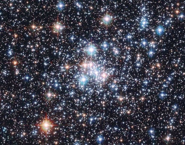 An open cluster of stars.