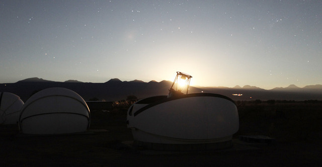 The 50-cm Caisey Harlingten telescope at San Pedro de Atacama, Chile, where one of the successful observations took place.