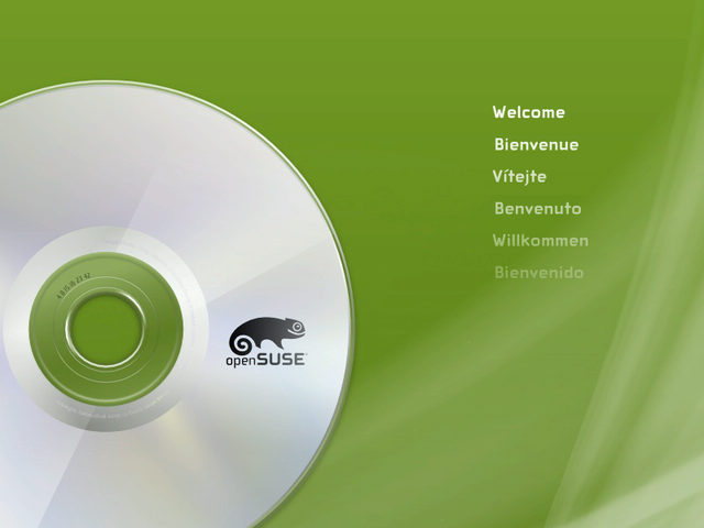 The openSUSE boot screen