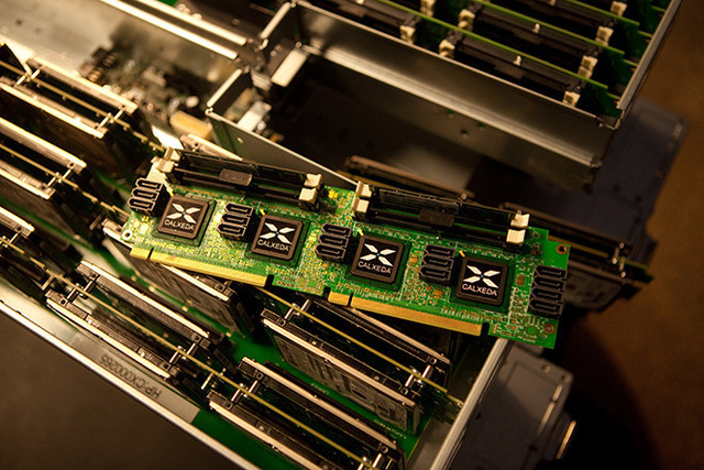 Calxeda's EnergyCard atop a HP Redstone server prototype