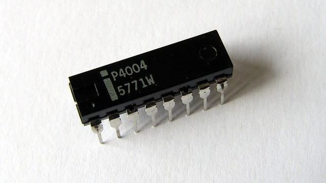 The 40th birthday of—maybe—the first microprocessor, the Intel 4004
