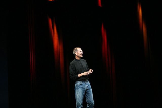 Steve Jobs at the first iPhone event in 2007.