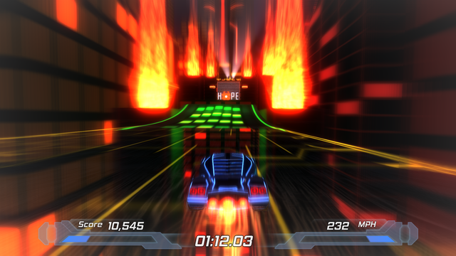 Nitronic Rush: free, student-made, Tron-inspired arcade racer for the PC