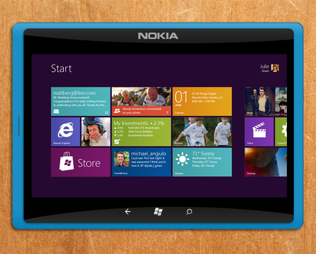 Nokia Windows 8 tablet coming in June 2012?