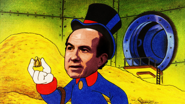 Artist representation of Viacom CEO Philippe Dauman