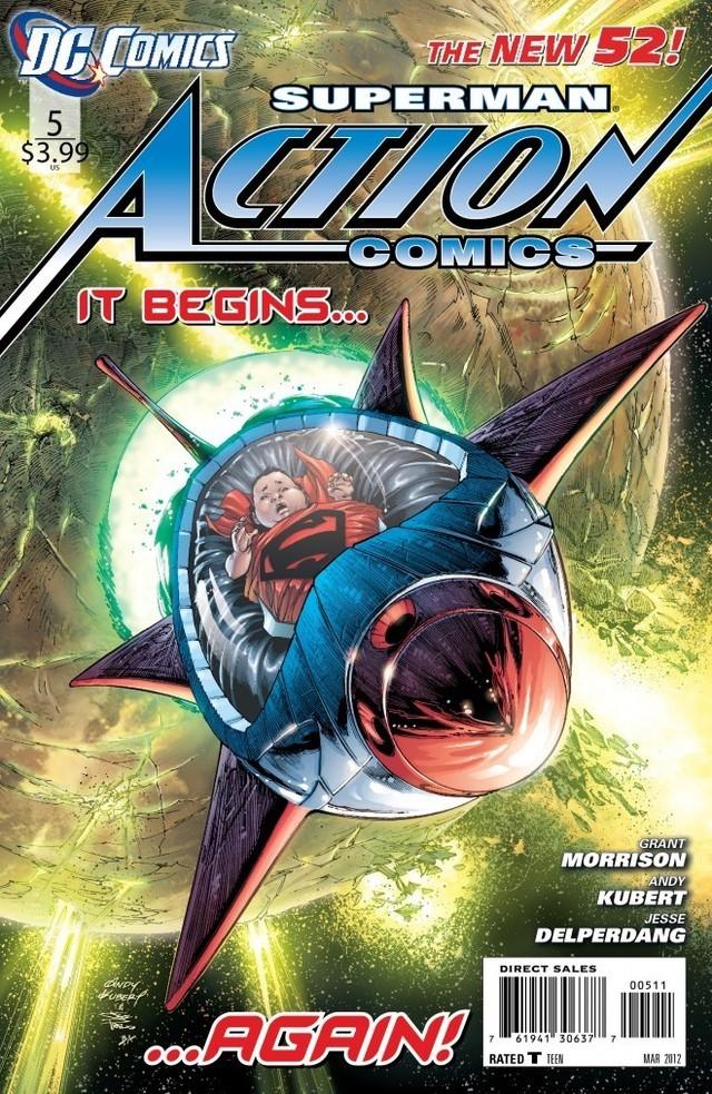 Action Comics No. 5 explains Superman's origin in DC Comics' New Universe