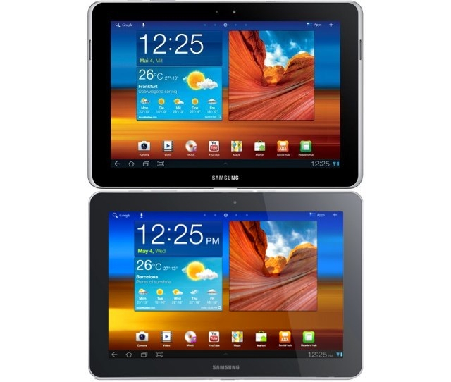 Original Galaxy Tab 10.1 on the bottom, 10.1N on the top
