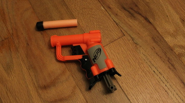 The Nerf Jolt EX-1 is small, concealable, accurate, and it stings a little
