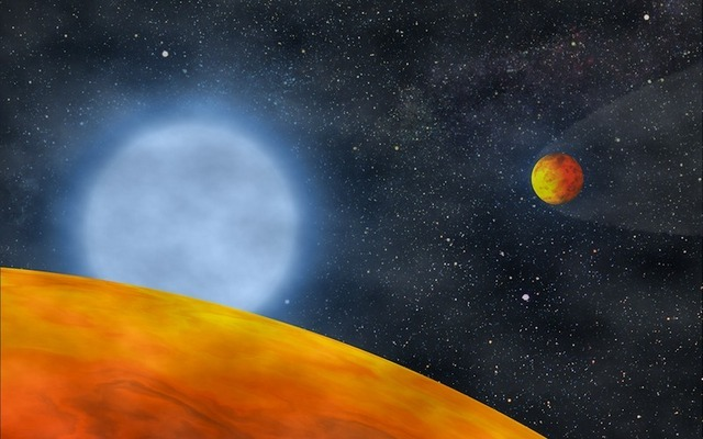 Two small planets orbit the core of what was formerly a red giant.