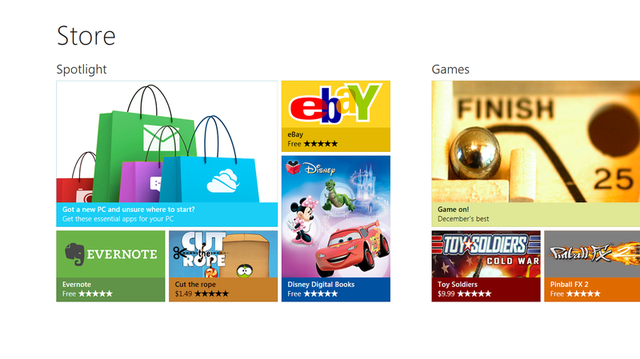 Win 8 app store revealed: more money for devs, beta in late February