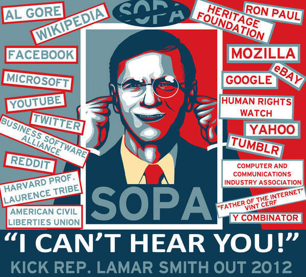 Rep. Lamar Smith: Not popular with SOPA opponents