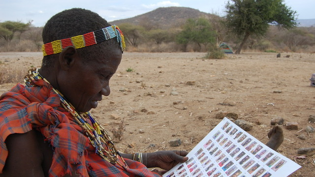 A member of the Hadza identifies her social network for researchers.