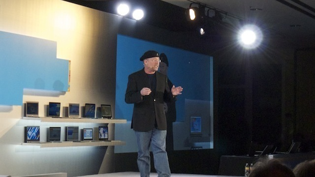Mooly Eden, Intel VP, speaking at a press event at CES 2012