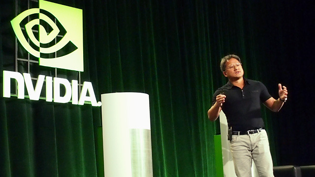 NVIDIA CEO Jen-Hsun Huang talks up Tegra 3 during a press conference at CES 2012.