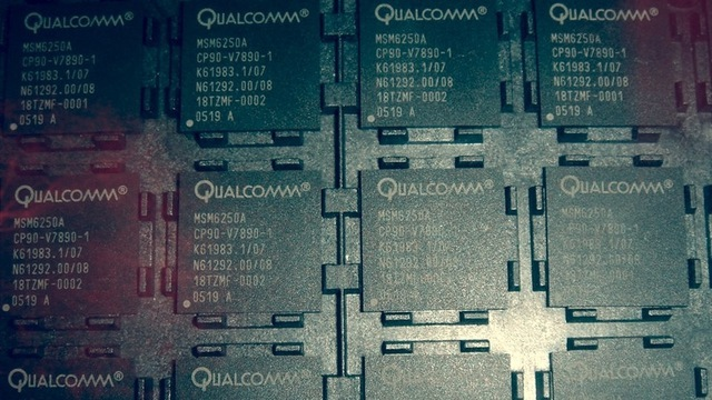 Qualcomm licenses the 3G standards essential patents from Samsung to make the cellular radio chips Apple uses in its iPhone and iPad.