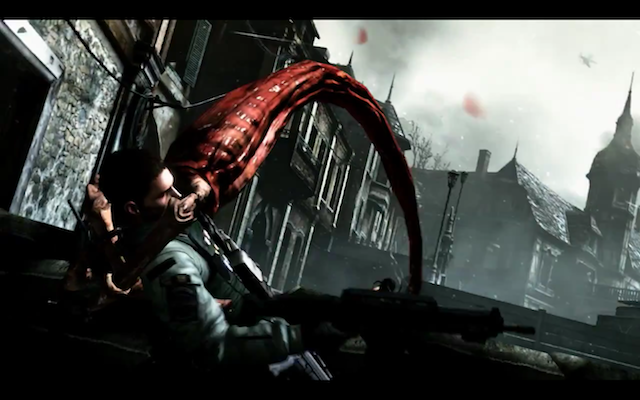 An infected monster grabs a hero of Resident Evil 6 by the face