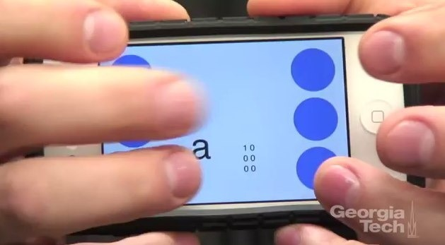 BrailleTouch keyboard allows typing on a phone without looking
