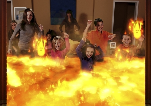 At last, a game that teaches your kids to play in fire.