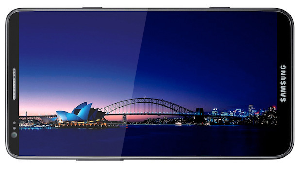 A mockup of the Samsung Galaxy S III from BGR, with a screen to rival most tablets in resolution.