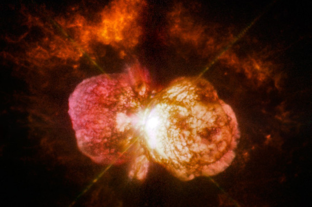 Eta Carinae is embedded in a dense nebula.