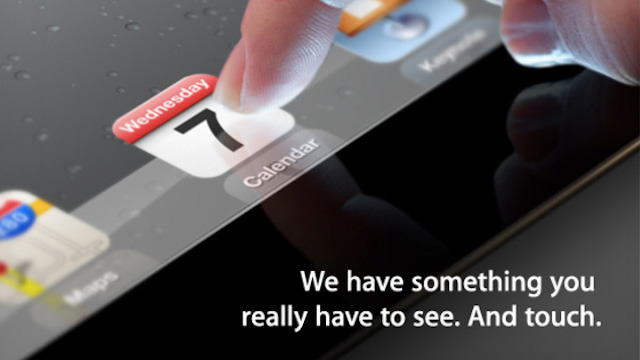 Apple announces March 7 event, likely iPad 3 unveiling
