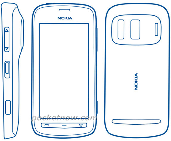Possible mockups of the Nokia 803, reported to have a very powerful imaging sensor.