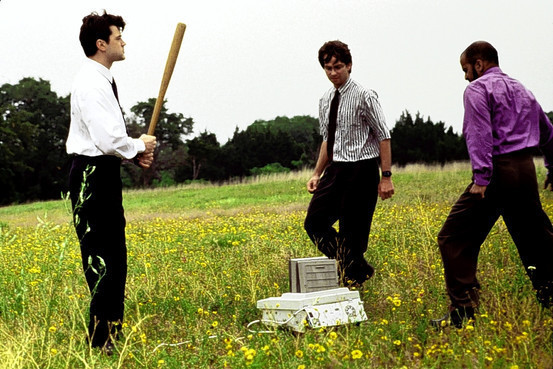 Little-known fact: Peter, Michael, and Samir were frustrated that the printer's output was crippled by a chip added late in the manufacturing process