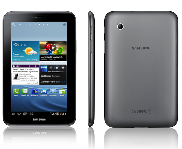 The Samsung Galaxy Tab 2, doing a spin for you.