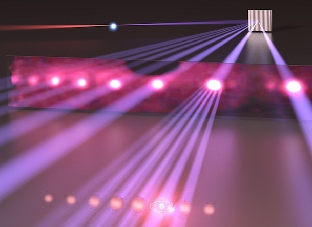 Artist's impression of an extreme ultraviolet frequency comb