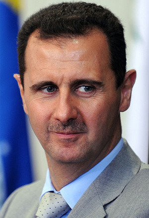 The president of the Syrian Arab Republic, Bashar Al-Assad