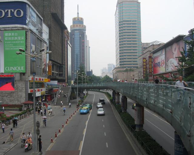 A street in Chengdu, China