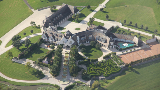 The mansion where Dotcom is under house arrest