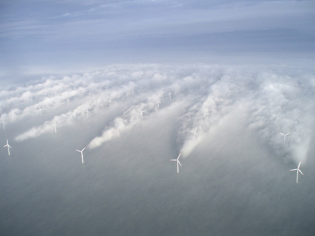 Denmark's Horns Rev offshore wind farm as it stands today