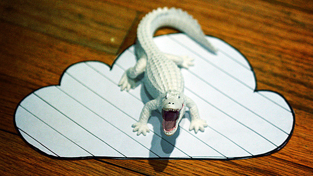 The true secret to iCloud security? An albino alligator.