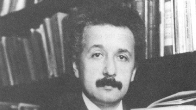 Einstein, around the time where he did his groundbreaking work on the photoelectric effect.