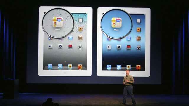 Phil Schiller shows off the new iPad's