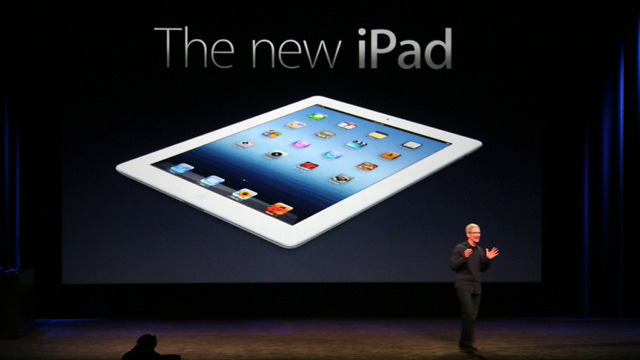 Apple CEO Tim Cook introduced the iPad 3 at a special media event in San Francisco on Wednesday.