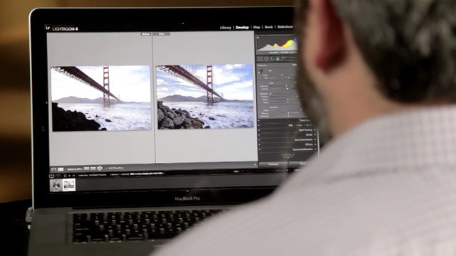 Adobe's Tom Hogarty demos the new shadow and highlight processing in Lightroom 4.