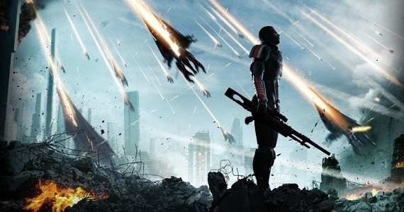 Many <i>Mass Effect 3</i> players feel kind of like Commander Shepard in this image, watching helplessly as events transpire out of their control