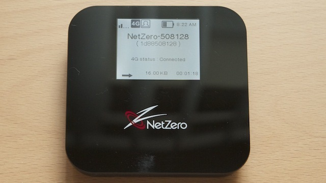 The 4G hotspot from NetZero, priced at $99.95