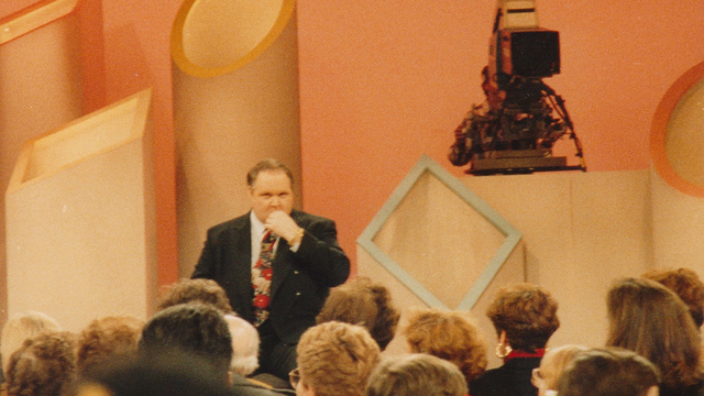 Rush Limbaugh at the Phil Donahue Show in the early '90s